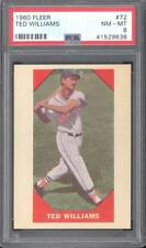 1960 Fleer #72 Ted Williams - PSA NM-MT 8 - Red Sox - CENTERED