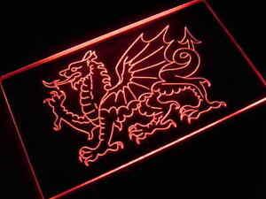 U1476R Welsh Dragon Display Light Neon Sign