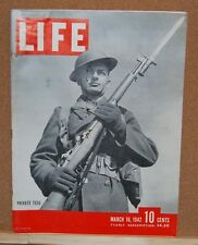 Life Magazine March 16, 1942 Good Condition Coke Cola ad on Back page