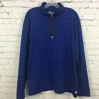 Fila Sport Shirt Size XXL Mens Blue Athletic Running Half Zip Long Sleeve