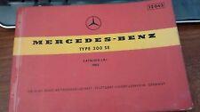 1962 Mercedes Benz Type 300 SE Catalog  A