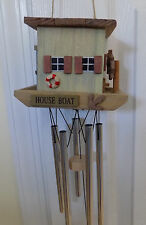 SPOONTIQUES HOUSEBOAT # 04895 WIND CHIME NEW IN BOX