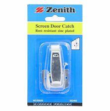 Zenith SCREEN DOOR CATCH for Wooden Door Rust Resistant Steel ZINC PLATED