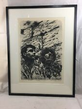 Orig. hand signed Paratroopers at the Western Wall Israel Arthur Bar-On  #16/175