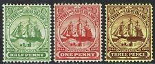 TURKS AND CAICOS ISLANDS 1905 SHIP SET WMK MULTI CROWN CA