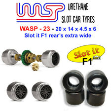 WASP 23 - Urethane Slot Car Tyres - Slot it F1 wide