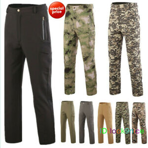 New Men's Military Casual Outdoor Soft Shell Waterproof Camo Pants Hunt Trousers