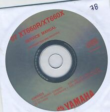 (CD78) CD MANUEL ATELIER MOTO YAMAHA XT660R / XT660X   2007