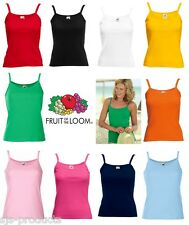 Womens Ladies Plain Sleeveless 100% Cotton Strappy Vest Top Tank Sizes 8 to 18