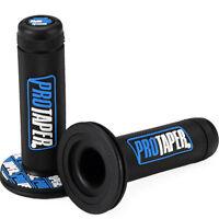 2x Manopola PRO TAPER manubrio Motocross Pit Bike Motard manopole 7/8 grip BLU