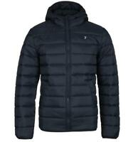Mens Farah Clarence Padded Navy Jacket with Hood Water Repellent Warm Winter