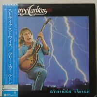 LARRY CARLTON STRIKES TWICE WARNER P-10649W Japan OBI VINYL LP