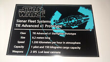 Star Wars  Sticker for Lego® 10175 Vaders Tie Fighter UCS precut Replacement