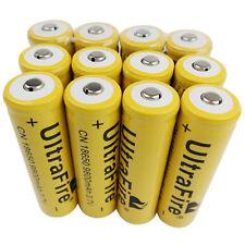 12X 18650 3.7V Li-ion 9800mAh Rechargeable Battery for Flashlight Torch Lantern