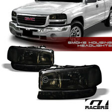 1999-2006 GMC SIERRA/2000+ YUKON SMOKE CLEAR HEADLIGHTS w/SIGNAL BUMPER LAMPS NB