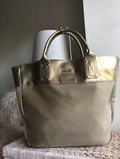 Versace Parfums gold medium large handbag tote bag
