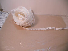 10 Yds Millinery Doll Paper Hat Straw, White ,Open Weave