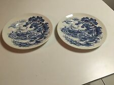 "COUNTRYSIDE BLUE BY WEDGWOOD - MADE IN ENGLAND - 2 DINNER PLATES - 10""  VINTAGE"