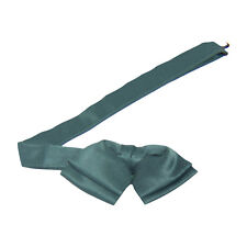 Hunter Green Satin Floppy Banded Bow Tie