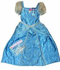 Disney Cinderella 2 Piece Fancy Dress Dressing Up Costume Outfit & Tiara Age 7-8