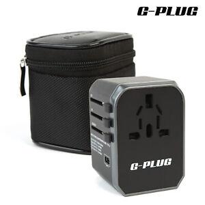 Universal Travel Adapter w/ Plug Converter – Travel Plug w/ 5.6A Smart Power 4 U