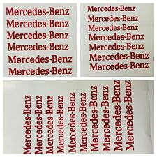 8 pc set Red Mercedes Benz Brake Caliper Vinyl Stickers Decal Logo Overlay AMG