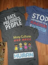 large t-shirt shirt top ~ anti- racism prejudice ~ one race...human ~  lot of 3