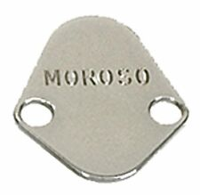 Moroso 65394 Fuel Pump Block Off Plate Chrysler V8/Big Block Chevy/Ford - Chrome