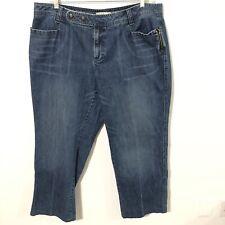 TOMMY HILFIGER Woman SIZE 20 Plus BLUE Denim JEANS Straight Leg 100% cotton