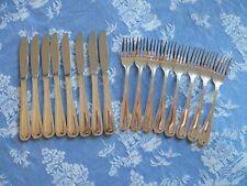 GROSVENOR AUSTRALIAN MADE EPNS  8 x ENTREE KNIVES & 8 x ENTREE FORKS