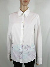 Florence Fred Womens Vtg Retro Look White Embroidery Classic Shirt sz 16 AS55