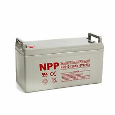 NPP   NPD12-120 Ah  Wind Solar RV Marine AGM Deep Cycle 12V 120Ah  Battery