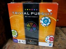 New Trivial Pursuit  Bet You Know It Board Game Family Hasbro 2 + Players Chips