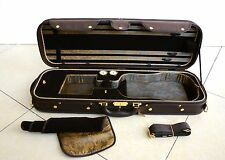 Luxury&Royal Wooden Violin Case Sturdy&Durable 3.2kg Black&Coffee Color