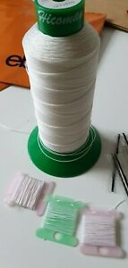 Kit Upholstery White Thread & Needle Hand sewing nylon thread Upholstery&Craft