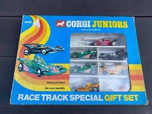 Corgi Juniors Race Track Special Gift Set In Its Original Box - See Description