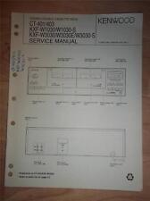 Kenwood Service Manual~CT-401/403~KXF-W1030/W3030/E/-S Cassette Deck~Original