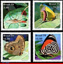 1620-23 BRAZIL 1979 BUTTERFLIES, INSECTS BRASILIANA 79,STAMP DAY,MI# 1716-19,MNH