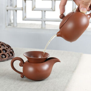 5pcs/lot Yixing zisha tea set Tea Pot & Tea filter set & Fair cup & 2 tea cups