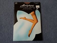 Aristoc small medium Allure 20 Denier cotton fresh stockings.