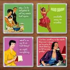 Funny Retro 1940s/50s Housewives Set of 4 Vintage Drink Coasters Gift