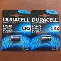 2 X Duracell Ultra Photo CR2 3V Lithium Batteries DLCR2 / ELCR2 Longest Expiry