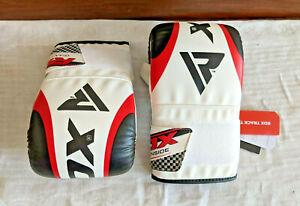 RDX F10 Boxing Bag Gloves Black, White & Red - 16 oz - NEW