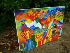 Psychedelic Oil And Acrylic Painting- Animals and Abstract Landscape Art
