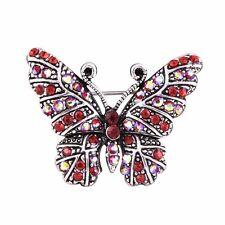 Diamond Butterfly Brooch Fashion Women Jewelry Party Alloy Brooch Pin