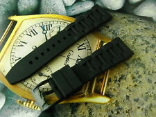 GENUINE NOS FOSSIL 22MM BLACK DIVER'S MENS WATCH RUBBER BAND