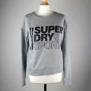Womens SUPERDRY Sport Crew neck Sweatshirt SIZE UK 14 Sweater Jumper Pullover