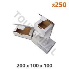 Boîte carton blanc 200 x 100 x 100 mm (par 250)