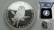 New listing 2011 Kazakhstan Large Silver Proof 500 T Hawk-Owl-Nice Box