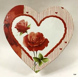 Gift Box Heart Shape Red Roses 16x15x7 CM Packaging Large